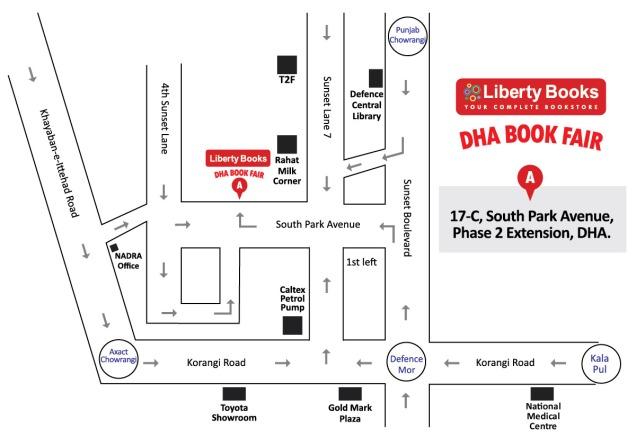 Liberty Books DHA Book Fair Map